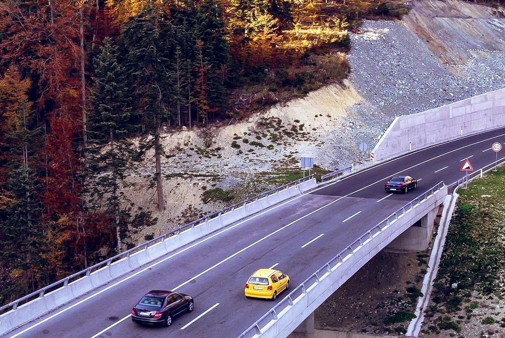 Modern road in Bosnia and Herzegovina